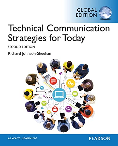 9781292080406: Technical Communication Strategies for Today, Global Edition