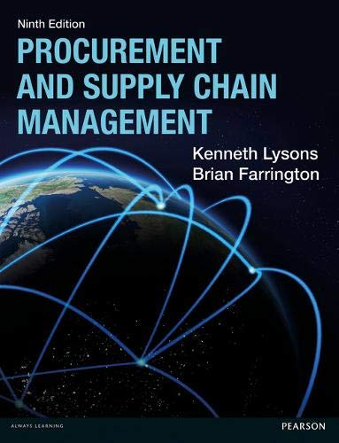 Procurement and Supply Chain Management (Paperback): Kenneth Lysons, Brian