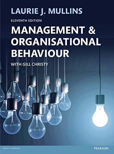 9781292088488: Management & Organisational Behaviour, 11th ed.