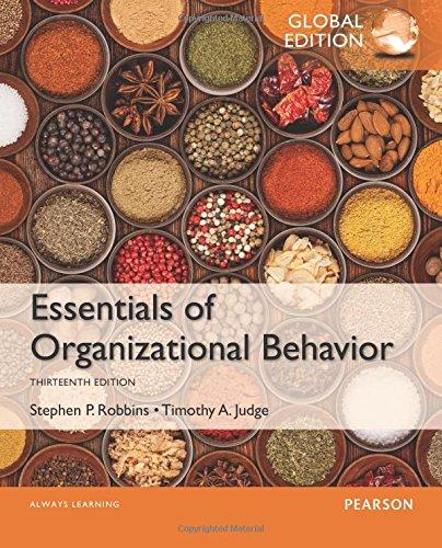 9781292090078: Essentials of Organizational Behavior, Global Edition