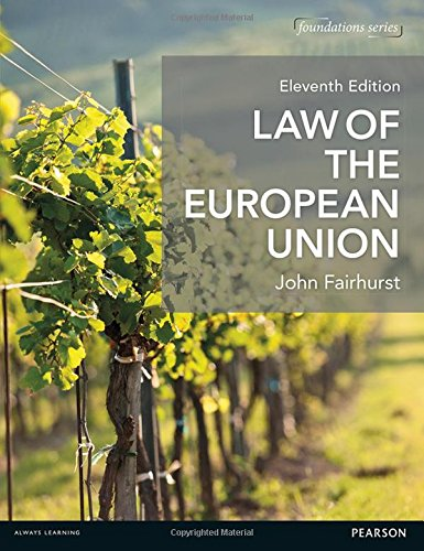 9781292090337: Law of the European Union (Foundation Studies in Law Series)