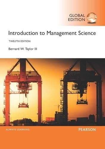 9781292092911: Introduction to Management Science, Global Edition