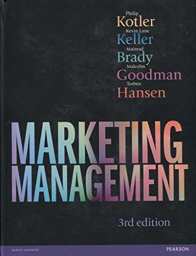 Marketing Management: Philip Kotler; Kevin