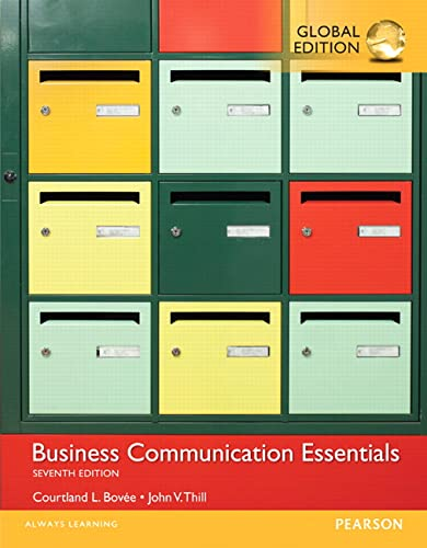 9781292093260: Business Communication Essentials, Global Edition