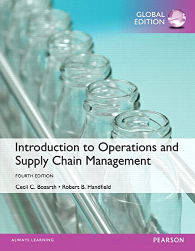 9781292093420: Introduction to Operations and Supply Chain Management, Global Edition
