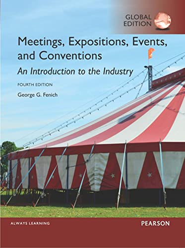 9781292093765: Meetings, Expositions, Events and Conventions: An Introduction to the Industry