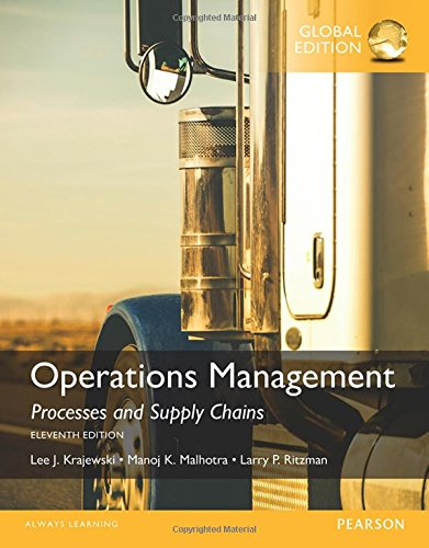 9781292093864: Operations Management Processes and Supply Chains, Global Edition