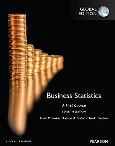 9781292095936: Business Statistics A First Course, Global Edition