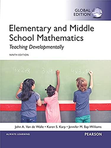 9781292097695: Elementary and Middle School Mathematics: Teaching Developmentally, Global Edition