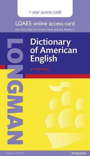 9781292099323: Longman Dictionary of American English Single User Access Card with 1 Year Pin Code (Longman Advanced American Dictionary)