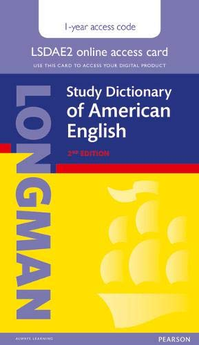 9781292099330: Longman Study Dictionary of American English 2nd Edition Single User Access Card with 1 year Pin Code (Longman Advanced American Dict)
