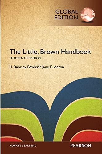 9781292099477: The Little, Brown Handbook, Global Edition