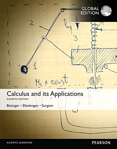 9781292100241: Calculus And Its Applications, Global Edition