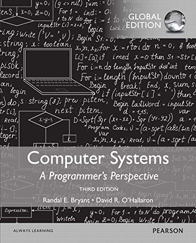 9781292101767: Computer Systems: A Programmer's Perspective, Global Edition