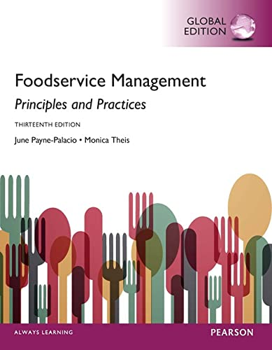 9781292104195: Foodservice Management: Principles and Practices, Global Edition