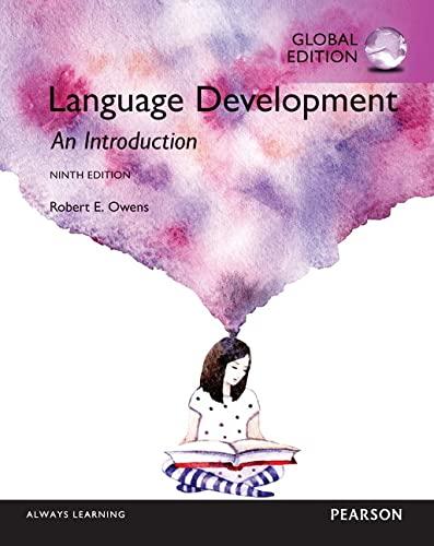 9781292104423: Language Development An Introduction, Global Edition: An Introduction, Global Edition