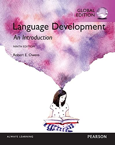 9781292104423: Language Development An Introduction, Global Edition