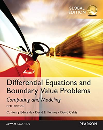 9781292108773: Differential Equations and Boundary Value Problems: Computing and Modeling, Global Edition