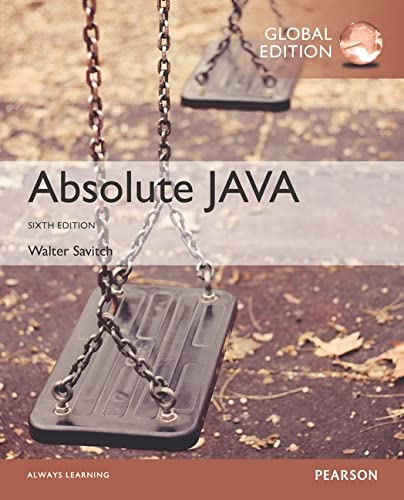 Absolute Java [Paperback] [Jan 01, 2016] Walter: SAVITCH WALTER ET.AL