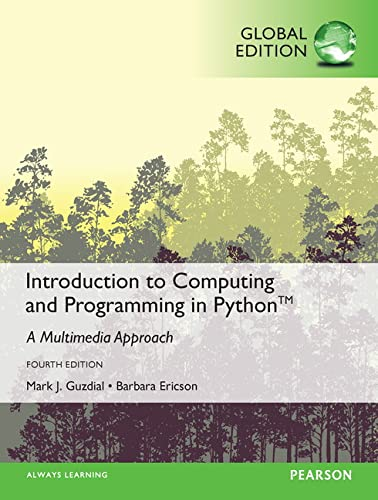 9781292109862: Introduction to Computing and Programming in Python, Global Edition