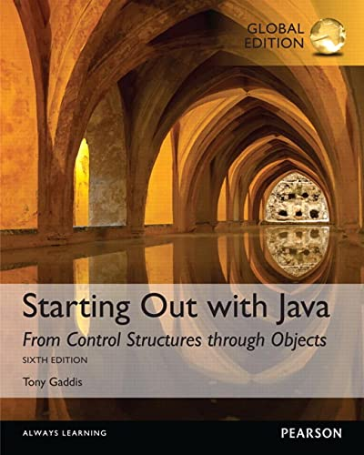 9781292110653: Starting Out with Java: From Control Structures through Objects, Global Edition
