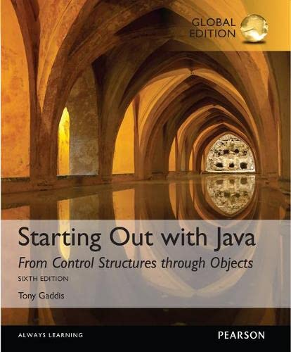 9781292110783: Starting Out with Java: From Control Structures through Objects with MyProgrammingLab, Global Edition