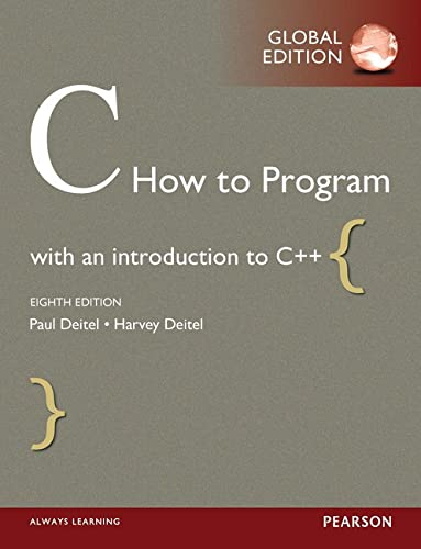 9781292110974: C How to Program, Global Edition