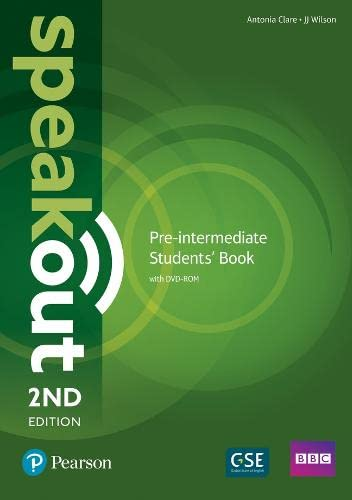 9781292115979: Speakout Pre-Intermediate 2nd Edition Students' Book and DVD-ROM Pack