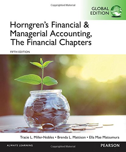 9781292117102: Horngren's Financial & Managerial Accounting, the Financial Chapters