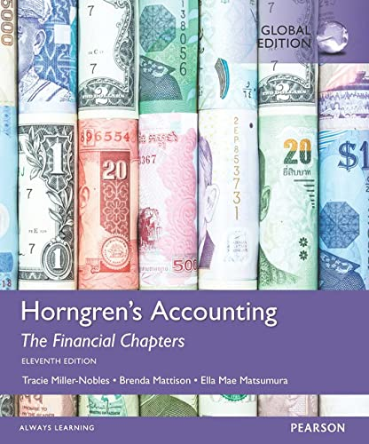 9781292119335: Horngren's Accounting, the Financial Chapters, Global Edition