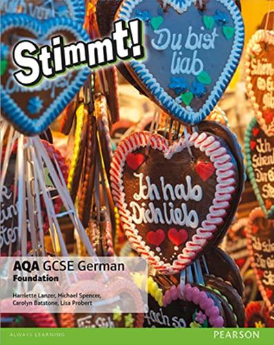 9781292132600: AQA GCSE German Foundation (Stimmt! AQA GCSE German)