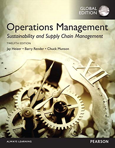 9781292148632: Operations Management: Sustainability and Supply Chain Management, Global Edition