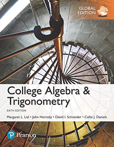 9781292151953: College Algebra and Trigonometry, Global Edition