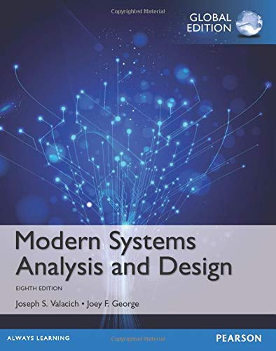 modern systems analysis 13-mar-02: modern systems analysis and design third edition jeffrey a hoffer joey f george joseph s valacich.
