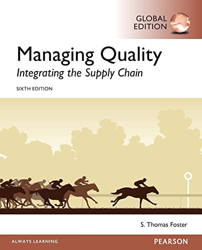 9781292154213: Managing Quality: Integrating the Supply Chain, Global Edition