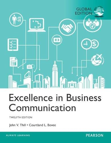 9781292156651: Excellence in Business Communication, Global Edition