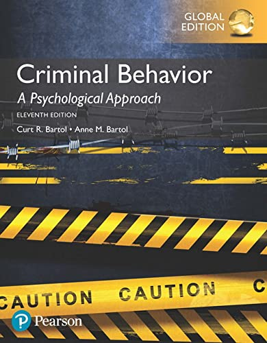 9781292157719: Criminal Behavior: A Psychological Approach, Global Edition