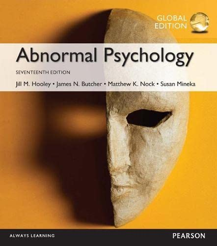 9781292157764: Abnormal Psychology, Global Edition
