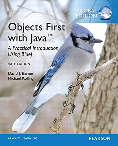 9781292159041: Objects First with Java: A Practical Introduction Using BlueJ, Global Edition