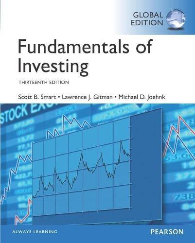 Fundamentals of Investing plus MyFinanceLab with Pearson: Scott B. Smart,