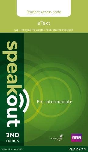 9781292172712: Speakout Pre-Intermediate 2nd Edition eText Access Card