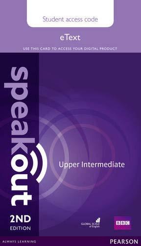 9781292172736: Speakout Upper Intermediate 2nd Edition eText Access Card