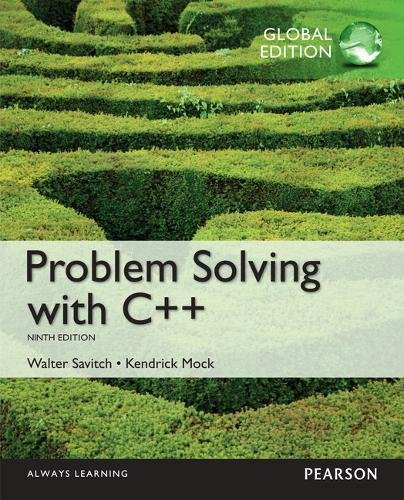 9781292185026: Problem Solving with C++ plus MyProgrammingLab with Pearson eText, Global Edition