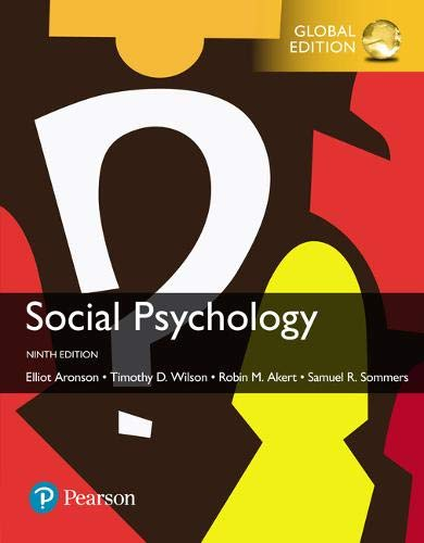 9781292186542: Social Psychology, Global Edition