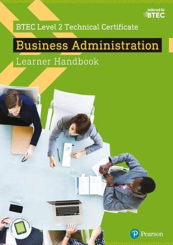 9781292197692: BTEC Level 2 Technical Certificate Business Administration Learner Handbook with ActiveBook (BTEC L2 Technicals Business)