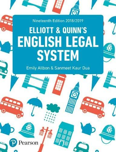 9781292208510: English Legal System