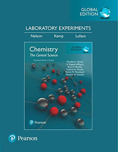 9781292221335: Laboratory Experiments for Chemistry: The Central Science, SI Edition