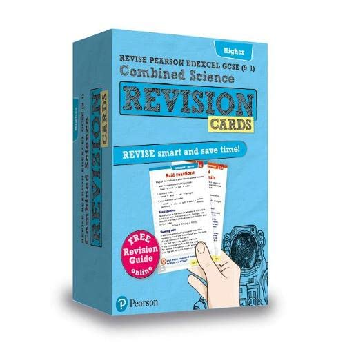 9781292257334: Revise Edexcel GCSE (9-1) Combined Science Higher Revision Cards: with free online Revision Guide (Revise Edexcel GCSE Science 16)