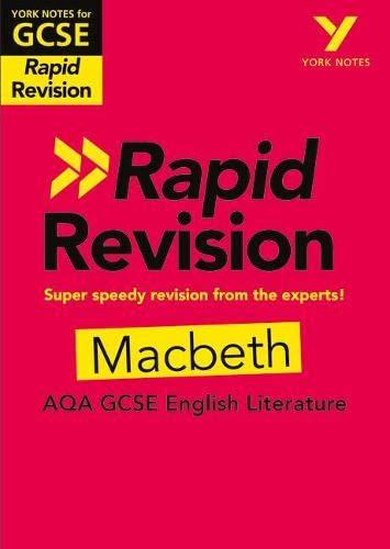 9781292270876: York Notes for AQA GCSE (9-1) Rapid Revision: Macbeth