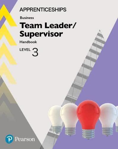 9781292279916: Apprenticeship Team Leader / Supervisor Level 3 Handbook + ActiveBook